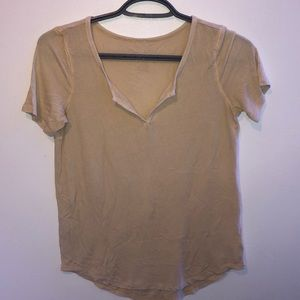 loose fitted v neck shirt